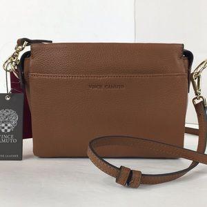 Vince camuto Aina Leather crossbody Shoulder Bag